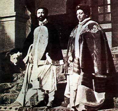 Halie Selassie and Empress Menen