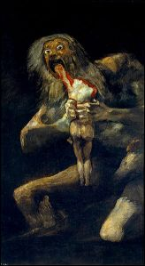 Saturn Devouring His Son by Goya - Black Paintings