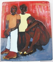 2010 WITH OUT CONDOMS by Marcellous Lovelace (36x40) om wood