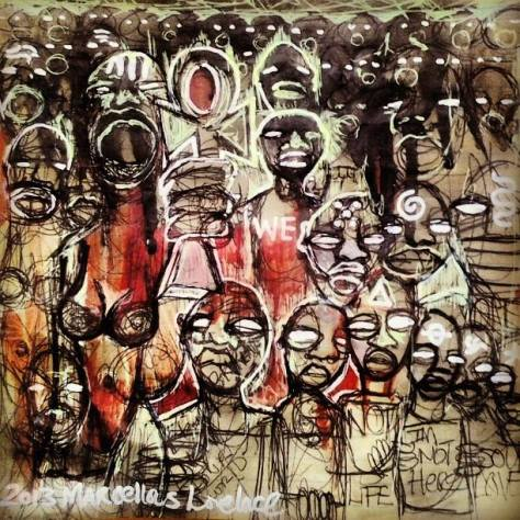 2013 black people not allowed to be black - a story from the mother land art by marcellous lovelace