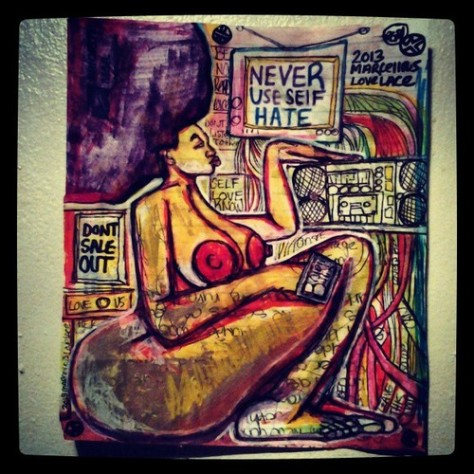 2013 Never Sacrifice Yo Soul art by Marcellous Lovelace