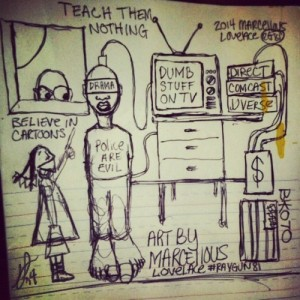2014 Concept x Teach Them Nothing People Dont Think They Watch Copy and Clone Follow Others Dumb art by Marcellous Lovelace