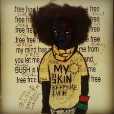 2014 Im Free Because I fight against oppression art by Marcellous Lovelace