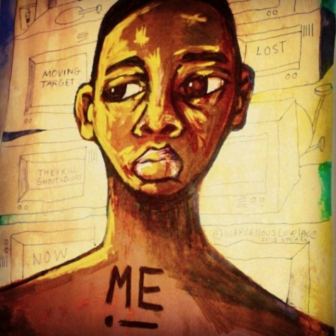 2015 I AM JUST ME art by Marcellous Lovelace