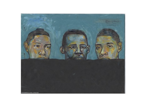 2018 Black Negro Facing Wall art by Marcellous Lovelace (art)